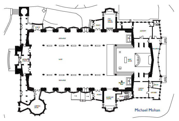 Architectural Floor Plans of the Church circa 1962
